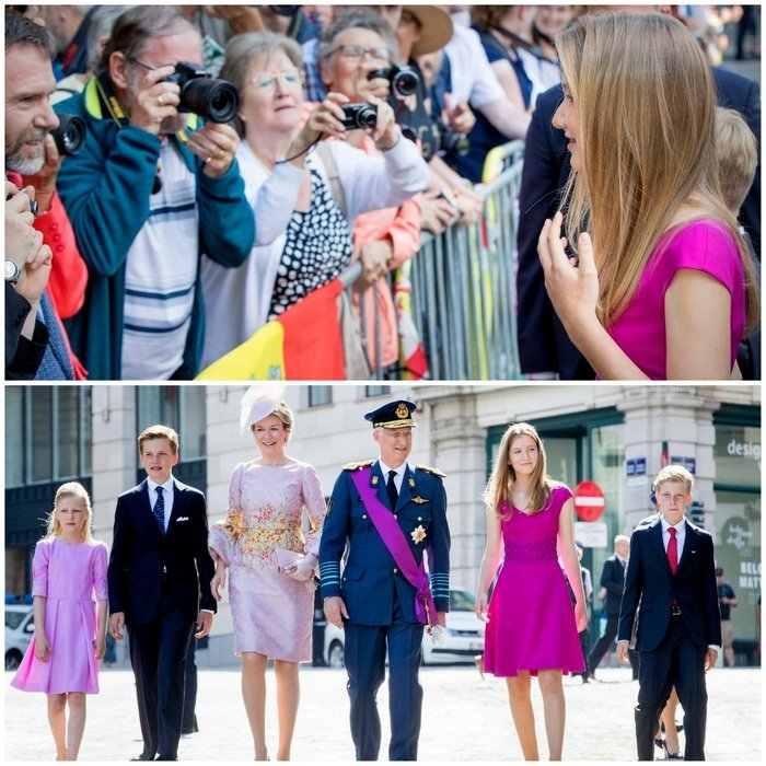 In July 2017, the Belgian royal family turned out in style for their country's National Day, where, in honor of the occasion, which also includes a military parade and a fireworks display, the royals attended the Te Deum mass in Brussels' Cathedral of St. Michael and St. Gudula. Future queen Elisabeth made quite an impression as she honed her royal skills, taking part in a meet-and-greet with the crowds along with the rest of the family – and demonstrating that she's well on her way to being ready for her historic royal role.