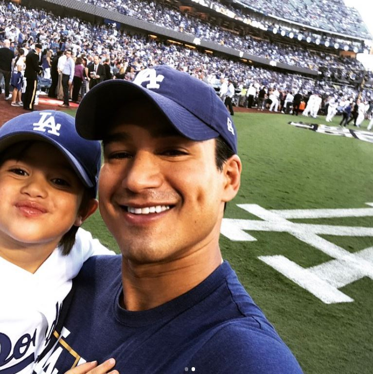 "Mario Lopez made the opening game of the World Series a father-son affair with his four-year-old Nico. The two were able to step on the field and wave the flag to get the crowd pumped for game one. The former <i>Saved by the Bell</i> star wrote on Instagram: ""Nico & I gettin the crowd hyped!