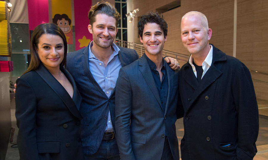 Lea Michele, Matthew Morrison and Darren Criss supported Ryan Murphy as he spoke during the Hollywood Foreign Press Association (HFPA)'s TV Game Changers panel at the Paley Center for Media in Beverly Hills.