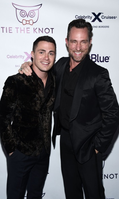 <b>Colton Haynes and Jeff Leatham</b>
