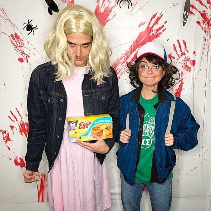 "Sarah Hyland and <i>The Bachelorette</i> and <i>Bachelor in Paradise</i>'s Wells Adams dressed up together as characters from Stranger Things. The 26-year-old <i>Modern Family</i> star shared a snap of their detailed costumes, showing Wells as Eleven (Eggos and all) and her as Dustin. Along with it she wrote: ""#strangerthings have happened #happyhalloween.""