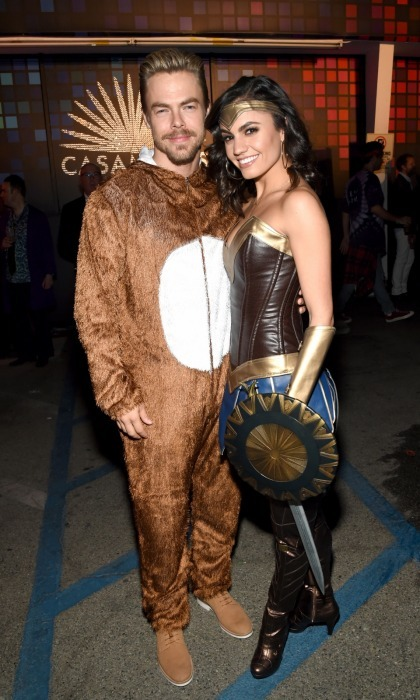 The dancing couple! Derek Hough looked cuddly alongside his girlfriend and fellow dancer Hayley Erbert  sc 1 st  Hello! & Halloween 2017: The best celebrity costumes from the most-talked ...