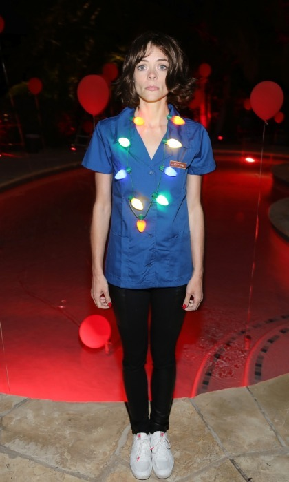 "The strangest costume award goes to Jaime King! The 38-year-old talent channeled Winona Ryder's character Joyce from the Netflix series <i>Stranger Things</i> on the same day that the second season was released. This is the second <i>Stranger Things</i> costume Jaime wore. She also dressed up as Eleven. ""SPOILER ALERT!!! The upside down leads to @westworld_hbo @strangerthingstv #realclementinepennyfeather @angelasarafyan and I #fakejoyce equals – MINDF$&K 蘿,"" Jaime wrote on Instagram.