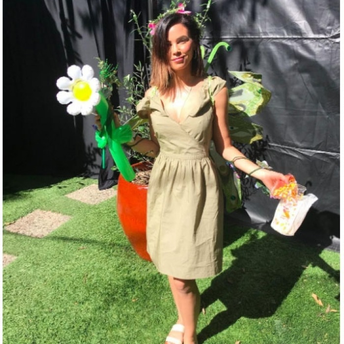 "Jenna Dewan Tatum had on the perfect kid-friendly costume as she attended her and Channing Tatum's daugther Everly's preschool Halloween carnival. ""This is the wings smashed, Mom somehow ends up holding it all, I survived preschool Halloween carnival nature fairy look,"" she wrote on her Instagram along with the pic.