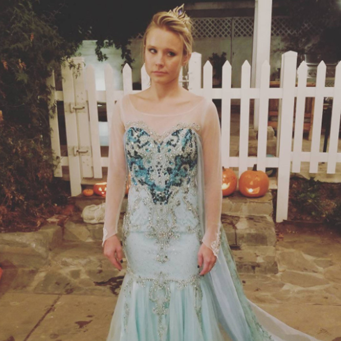 "Kristen Bell seemed super stoked to dress up as <i>Frozen</i>'s Elsa for her daughter. The actress who played Anna in the film dressed as the character per her daughter's request. She wrote on Instagram: ""When your daughter demands you BOTH be ELSA for Halloween...you GRIN AND FORKING BEAR IT. 