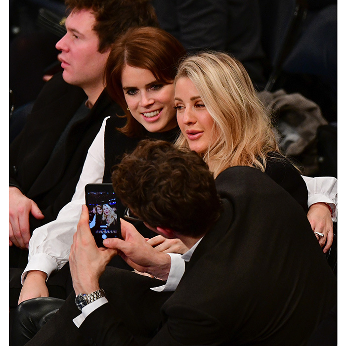 Smile, princess! Friends Ellie Goulding and Princess Eugenie had the pop singer's boyfriend snap a photo during their A-list double date! The two couples – the British royal with Jack Brooksbank, and Ellie with Caspar Jopling – took in the Brooklyn Nets vs New York Knicks game at Madison Square Garden on October 27.