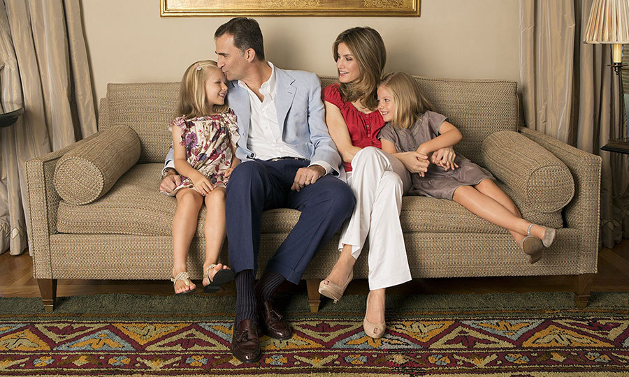 Leonor and her family reside at Zarzuela Palace, located in the outskirts of Madrid. The 18th century former hunting estate includes the royal family's 33,900 sq ft home, which has served as the backdrop for a number of official photoshoots, including this one in 2012 held in honor of Queen Letizia's 40th birthday. 