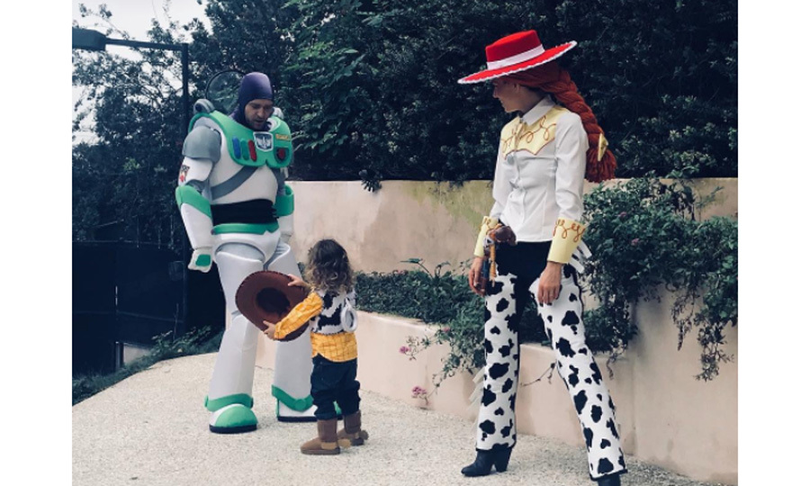 "Jessica Biel and Justin Timberlake helped make <i>Toy Story</i> come to life for their son Silas. Both the singer and the actress shared photos from their day of trick-or-treating. <i>The Sinner</i> actress wrote: ""Clearly Lil Woody is the boss of this Halloween rodeo! Love, Buzz, Jessie and Woody #HappyHalloween.""