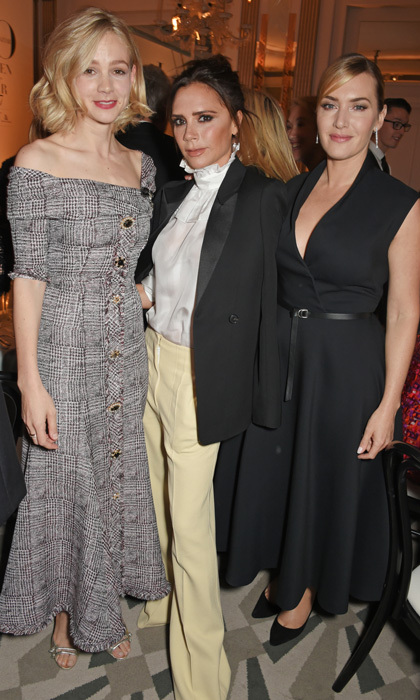 Carey Mulligan, Victoria Beckham and Kate Winslet were quite the glam trio at the  Harper's Bazaar Women of the Year Awards in association with Ralph & Russo, Audemars Piguet and Mercedes-Benz at Claridge's Hotel in London.