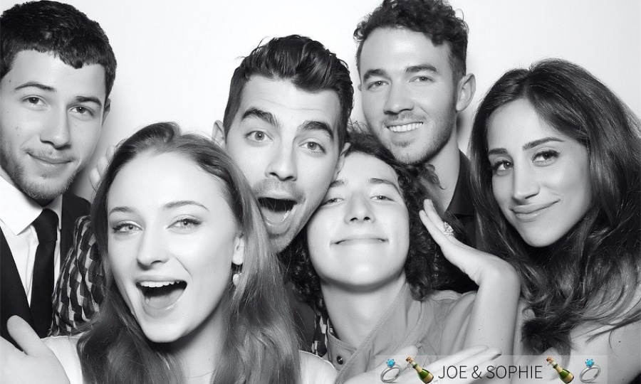 Joe Jonas and <i>Game of Thrones</i> star Sophie Turner celebrated their engagement with their closest friends and family at Mamo in New York City on Saturday, November 4. The evening seemed to be a night of dancing, photo booth fun and lots of love.
