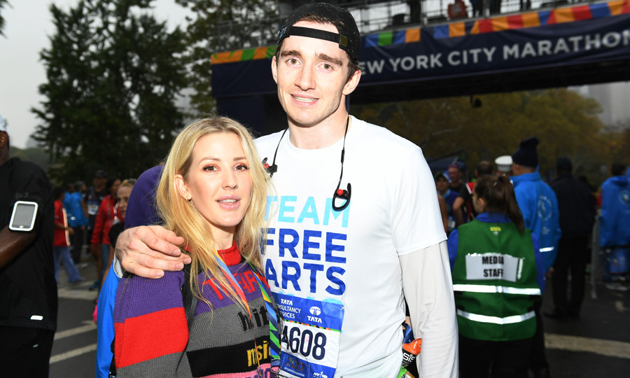 Ellie Goulding played the role of supportive girlfriend as her beau Caspar Jopling crossed the finish line of the TCS NYC Marathon on November 5. The singer even awarded her man with his medal.