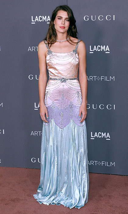 Daughter of Princess Caroline and granddaughter of Princess Grace of Monaco, Charlotte Casiraghi is a natural in the spotlight. The royal attended the 2017 LACMA Art + Film Gala in Los Angeles on November 4 wearing a jeweled pastel ombré gown by Gucci. 