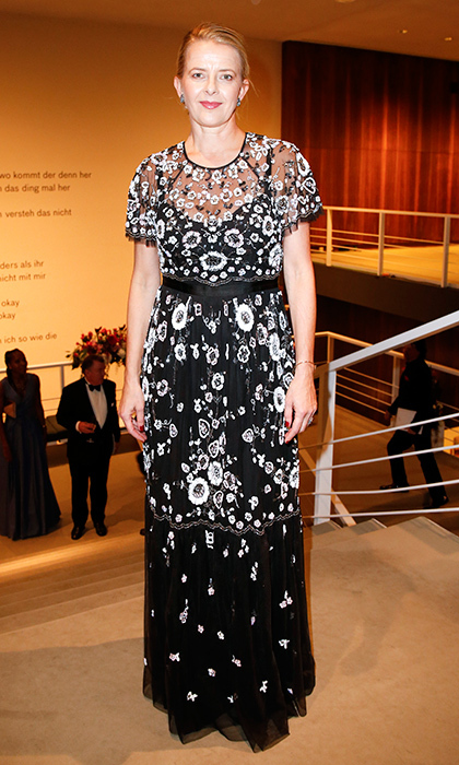 Princess Mabel of Orange-Nassau also opted for a black and white embroidered look. The Dutch Princess wore the floor-length creation to the 24th annual Opera Gala at Deutsche Oper Berlin on November 4 in Germany. 