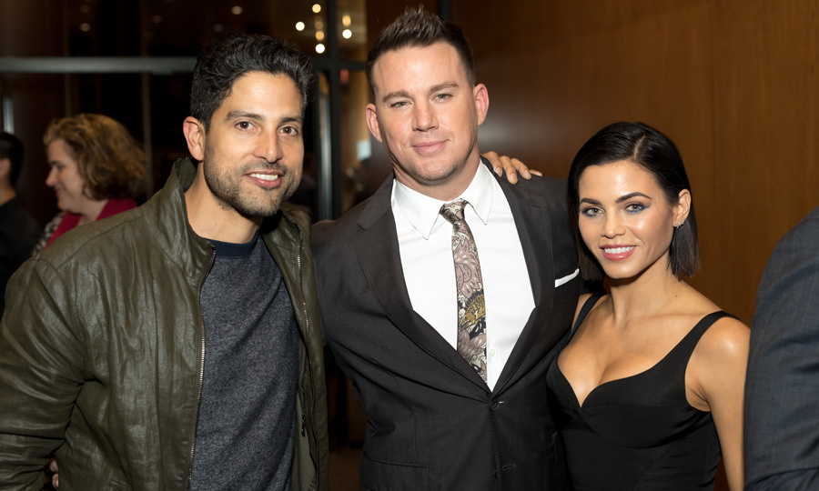 Channing Tatum had the support of wife Jenna Dewan and <i>Magic Mike</i> co-star Adam Rodriguez at the premiere of HBO <i>War Dog: A Soldier's Best Friend</i> with  The Directors Guild Of America in L.A on November 6.