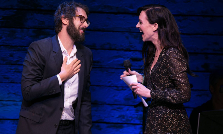 Broadway star Lena Hall joined Josh Groban on stage during the Only Make Believe Gala in NYC. Josh, who spent time in the show <i>Great Comet</i> was honored during the evening of song and dance, which helps raise funds for  creating and performing interactive theatre for children in hospitals and care facilities.