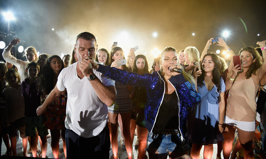 Fergie brought Liev Schreiber up on stage to sing with her during The Cove's reopening party in Paradise Island, Bahamas. The newly single singer sang hits from her <i>Double Duchess</i> album as well as some of her hits to a crowd including Drew Barrymore, Brooke Shields and Karolina Kurkova.