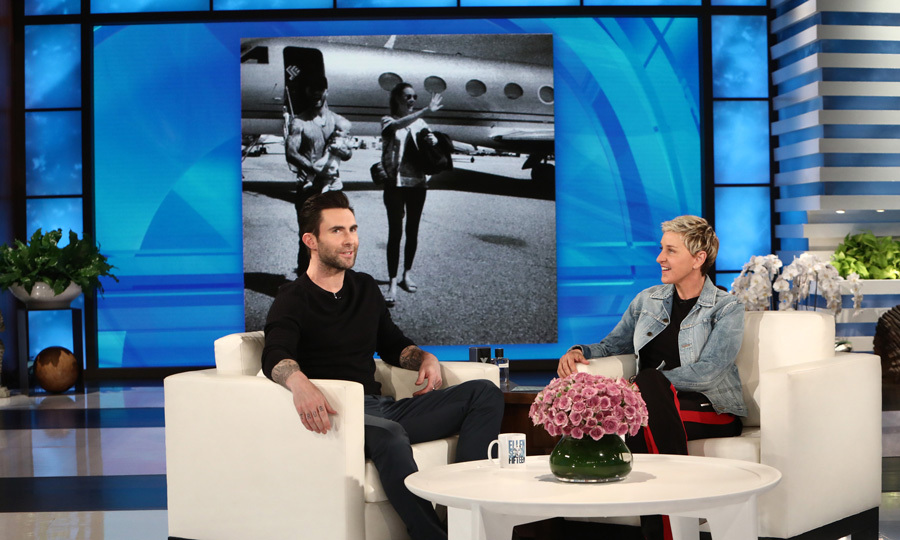"Adam Levine stopped by <i>The Ellen DeGeneres Show</i> with Maroon 5. During the appearance, the singer shared that he and Behati Prinsloo are expecting another girl and gave an update on how his wife is doing. ""She's awesome. She's just like a champion of the world. She's killing it,"" <i>The Voice</i> coach said. ""You wouldn't know she's almost seven months pregnant.""