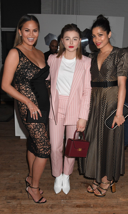 Shine bright like a diamond! Chrissy Teigen, Chloe Grace Moretz and Freida Pinto made a stylish trio at the Forevermark Tribute event on November 7 in New York City.