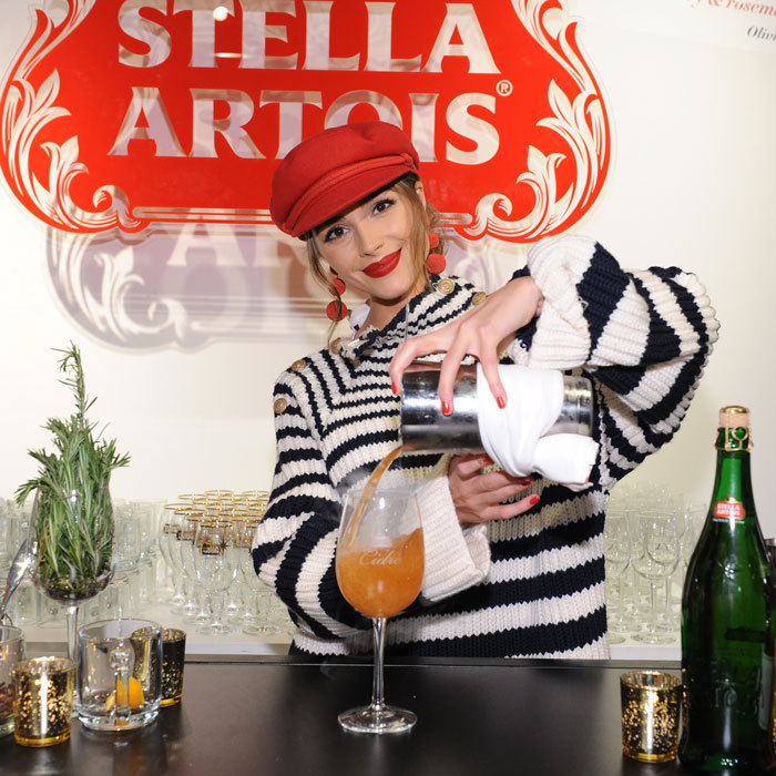 "Olivia Culpo was quite the hostess at the Stella Artois evening in NYC. The actress, who has two movies coming up with Bruce Willis and Amy Schumer, poured her signature cocktail. ""It's made with rosemary, cranberry syrup, lime juice and Stella Cidre,"" she told HELLO!. ""It's the holidays in a glass.""