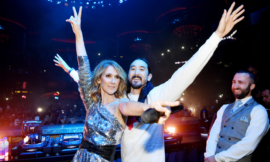 Is Celine Dion testing out a new career being a deejay? The singer joined Steve Aoki in the dj booth to perform a special rendition of <i>My Heart Will Go On</i> during the Hakkasan Group's Benefit Concert at OMNIA Nightclub inside Caesars Palace on November 7. 