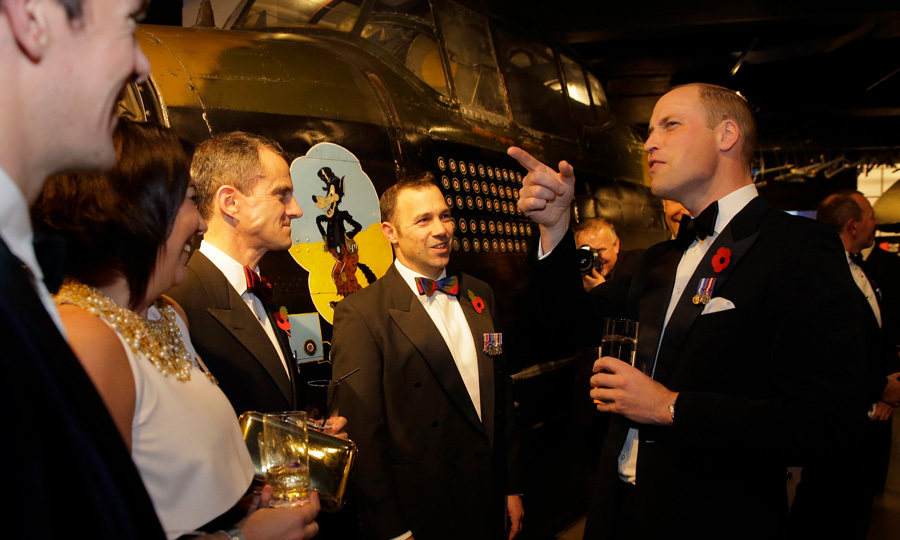 "Prince William attended a fundraising black tie gala organized by the City Veterans' Network on November 9 at London's Imperial War Museum. During a pre-dinner speech, the Duke revealed that his son Prince George is jealous that he got to drive a digger during a visit to the site of a new rehabilitation center for injured military personnel. He said, ""George was very envious as I got to drive a digger.""