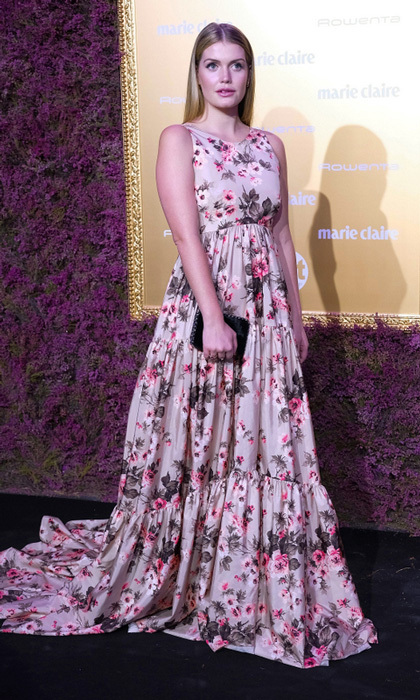 "Lady Kitty Spencer made her way to Madrid to attend the Marie Claire's Prix de la Mode at Florida Retiro. Princess Diana's niece stunned in JV by Jorge Vazquez and accessorized with Bulgari. She took to Instagram after the event and shared: ""Muchas gracias Maria Pardo & @marieclaire_es por invitarme  It was such an honour to be in Madrid to receive Breakout Fashion Icon of the Year at last night's event. I can't quite believe it and I feel incredibly lucky to have received this award  #MarieClaire30""