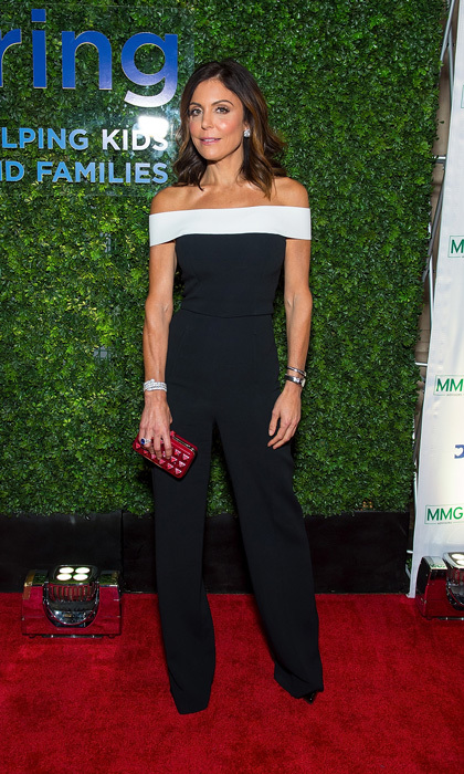 Bethenny Frankel wore an off-the-shouldered jumpsuit by Roland Mouret to the Delivering Good Gala in NYC. The <i>Real Housewives of New York City</I> star added a red Valentino clutch for some color. The mom-of-one, who has the B Strong Foundation, was honored for her work during hurricane season. 