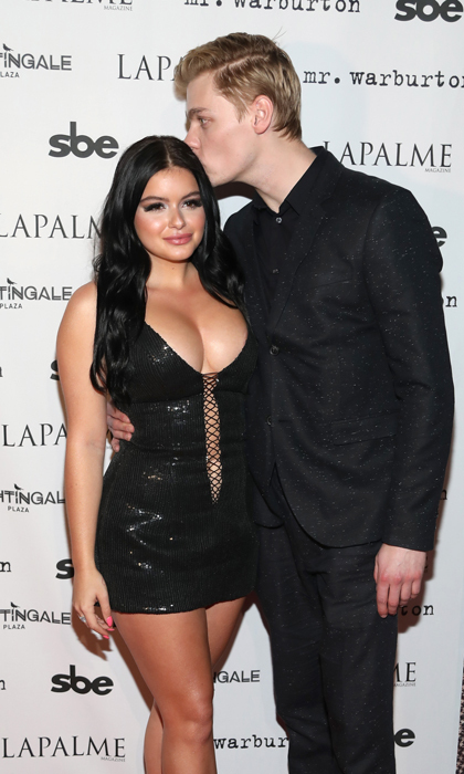 Ariel Winter got a quick peck from boyfriend Levi Meaden during the LaPalme Magazine fall cover party at Nightingale Plaza. Inside, guests celebrated the <i>Modern Family</i> star's photo shoot, and toasted with House of Carbonadi vodka and listened to DJ Caroline D'Amore.