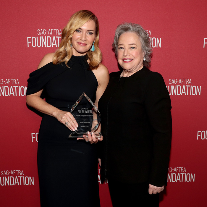 Kate Winslet and Kathy Bates had a <i>Titanic</i> reunion during the SAG-AFTRA Foundation Patron of the Artists Awards 2017 in L.A.