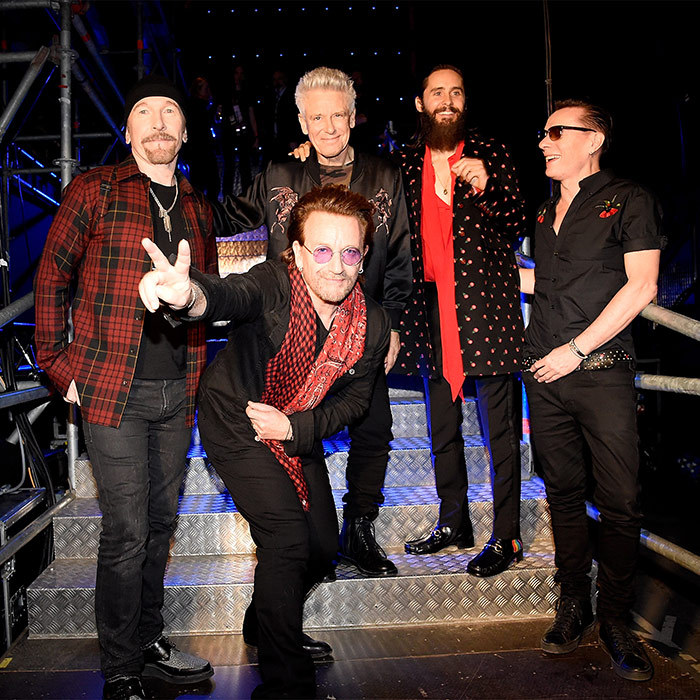30 Seconds to Mars front man Jared Leto was perfectly in tune with the legends from U2.
