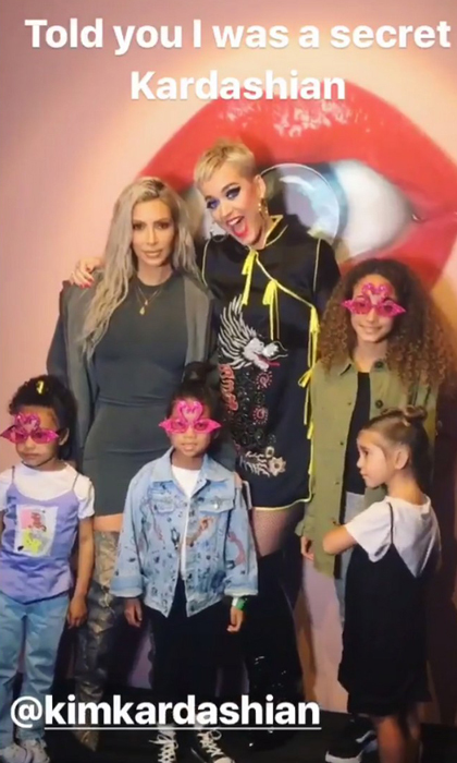 Kim Kardashian and her mini-squad went to see Katy Perry in concert in L.A. Both the mom-of-two and Katy posted on their social media about the encounter. During the show, Kim took a video of herself singing to her daughter North, who was enthralled by the show.