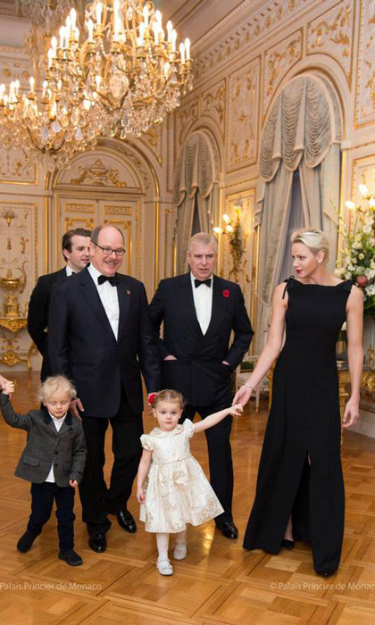 Prince Albert and Princess Charlene had a special royal visitor to the Monaco Palace on November 7. The couple, along with their twins Prince Jacques and Princess Gabriella, welcomed Prince Andrew for a charity gala for Outward bound. 