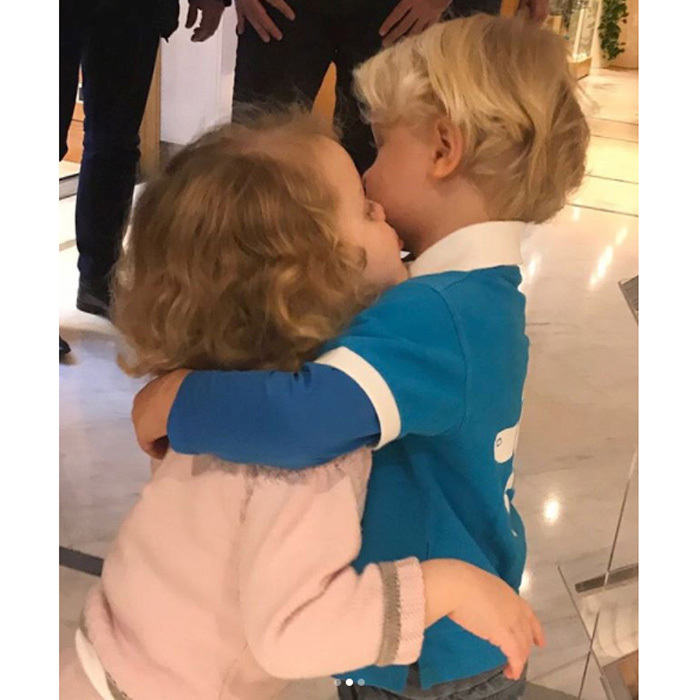 "In the new photos, the royal siblings sweetly looked at each other's fresh hairstyles before embracing one another with a kiss and a hug. Alongside the pictures, a simple message read: ""Our First Haircut."" Jacques looked sharp sporting a style similar to his glamorous mother's pixie. The young Prince had his shorter locks parted to one side, while his sister's golden curls fell loose around her face.
