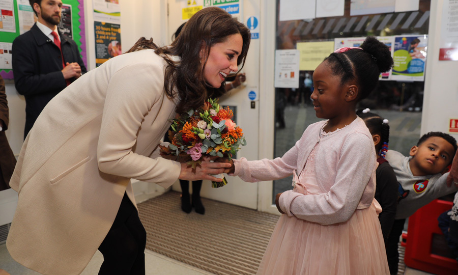 "While visiting the Hornsey Road Children's Centre in London on Tuesday, November 14, Kate Middleton shared a fun fact about her little girl while conversing with Nevaeh, six, who presented Prince Willam's wife with flowers wearing a pink princess-like dress and matching cardigan. ""She asked me what my favorite color is,"" the six-year-old recalled after her royal encounter. ""I said it was pink and she said that's Charlotte's favorite color too.""