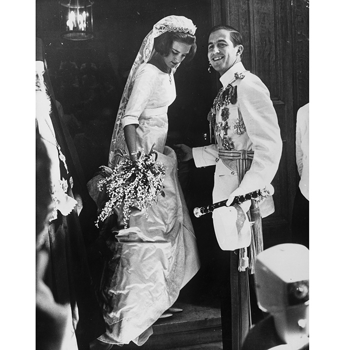 <B>Ex-King Constantine and Queen Anne-Marie of Greece</B>