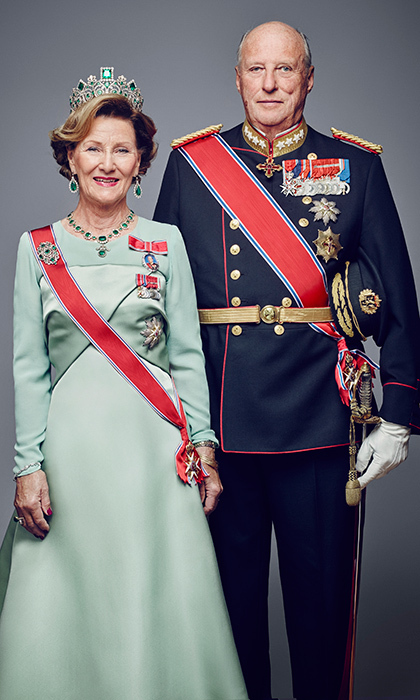 "NOW: The royal couple has been together through happy times as well as tragedy. Harald and Sonja were married for less than two years when she lost her first child, a baby boy, halfway through her pregnancy, having only recently announced her expectant status to the Norwegian public. ""Fortunately I was able to have more healthy children,"" said the Queen in a 2016 interview. Sonja gave birth to daughter Princess Martha Louise in September 1971 and welcomed Crown Prince Haakon in 1973. Here, the long-lasting couple, who will celebrate their 50th wedding anniversary in 2018, pose for an official portrait in 2016.