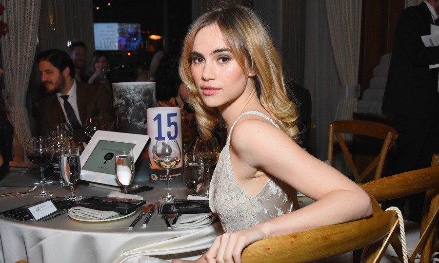 Suki Waterhouse took a break from dancing with Camilla Belle during the Fred Hollows Foundation Gala in Los Angeles presented by Casa Noble Tequila at The Highlight Room.