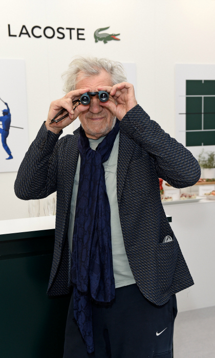 Sir Ian McKellen explored the Lacoste VIP Lounge during the 2017 ATP World Tour Semi- Finals at the O2 Arena on November 18 in London, England. The <i>X-Men</i> star attended the sporting event with famed producer and actress Dena Hammerstein.