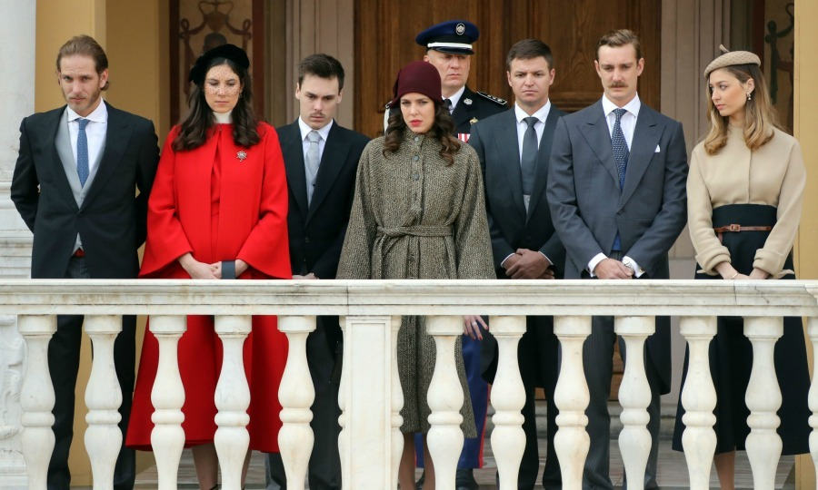 Monaco royalty stepped out in honor of the country's National Day celebrations at Monaco Palace on November 19. Andrea Casiraghi, Tatiana Santo Domingo, Louis Ducruet, Charlotte Casiraghi, Gareth Wittstock, Pierre Casiraghi and Beatrice Borromeo all attended the festivities, looking stylish in their finest attire.