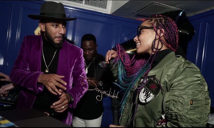 Swizz Beatz threw the coolest graduation party for himself at Vandal Lounge in NYC. The rapper was joined by wife Alicia Keys in the DJ booth as he celebrated his graduation from Harvard University Business School's Owner/President Management Program.