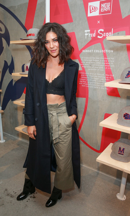 Jessica Szohr stopped by the Fred Segal pop up shop to check out the New Era Cap Sunset Collection Launch. The former <i>Gossip Girl</i>, who used to call New York City her home, was seen trying on the NY Mets baseball hat.