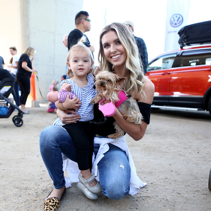 Audrina Patridge brought her daughter Kirra and her pup Lady to the Ollie Pupsgiving in Culver City where guests enjoyed waffles and mimosas while the dogs snacked on the brand's all-natural turkey and sweet potato treats.