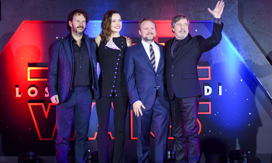 Producer Ram Bergman, actress Daisy Ridley, actor Mark Hamill and director Rian Johnson didn't have to travel to a galaxy far far away to promote their upcoming film Star Wars: The Last Jedi. The foursome stepped out for a fan event in Mexico City on November 20 to promote the latest installment of the franchise. 