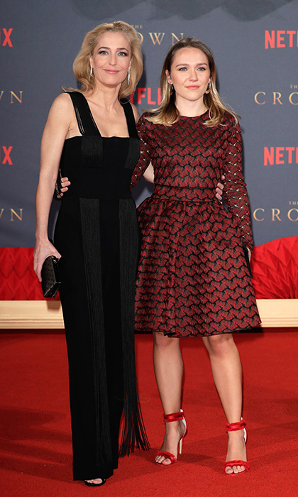 <B>Gillian Anderson and Piper Maru Klotz</B>