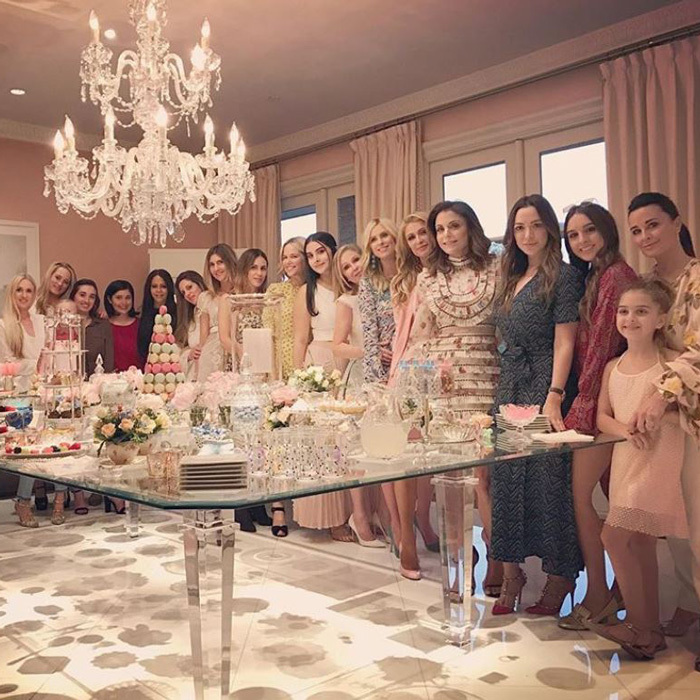 "Nicky's shower had some special guests including her aunt Kyle Richards and Bethenny Frankel as well as a room-filled of cousins and friends. The ladies all wore pastel colors to the shower with her older sister Paris writing on Instagram: ""Celebrating the new baby with the #Squad.  #NickysBabyShower""