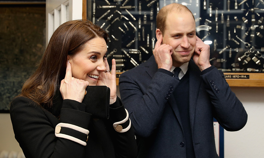 Things got a bit noisy for Prince William and the Duchess of Cambridge during their visit to Acme Whistles! The pair checked out the company, creator of the first police whistle, during their visit to Birmingham, England on November 22. 