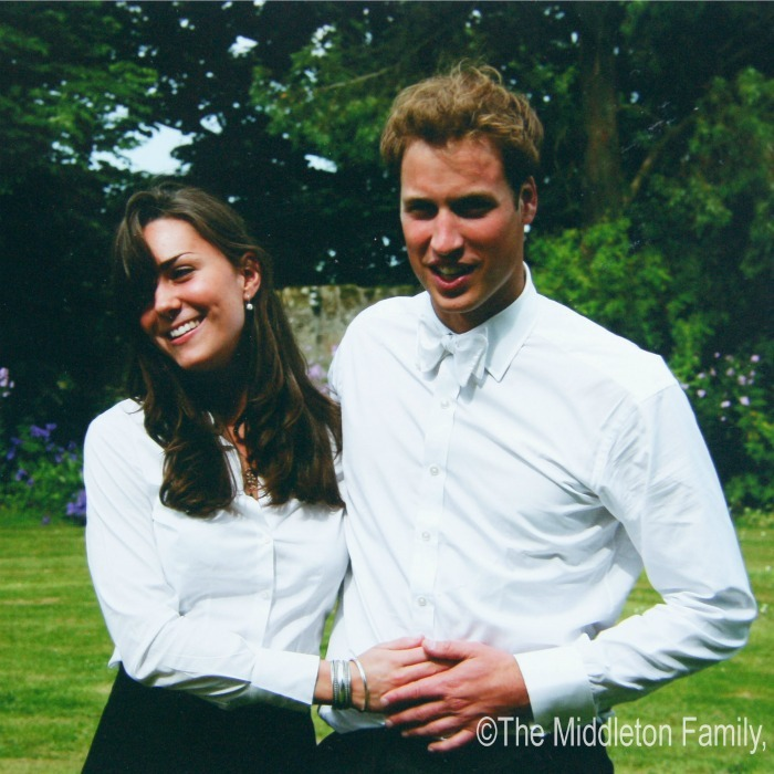 Old school matching! Kate Middleton and Prince William looked alike and in love on the day of their graduation ceremony at St. Andrew's University on June 23, 2005 in Scotland. In what might be their first twinning photo, the pair wore white button downs and dark slacks.