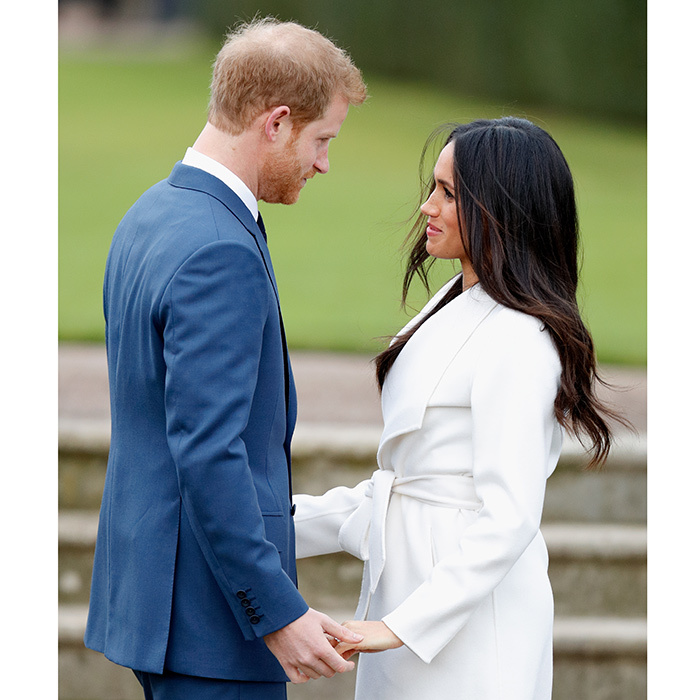 Here's a sneak peek of what the pair will look like at the altar on their wedding day in May 2018! Looking lovingly into each other's eyes as they faced one another, Meghan and Harry held hands during their official engagement photocall at Kensington Palace.