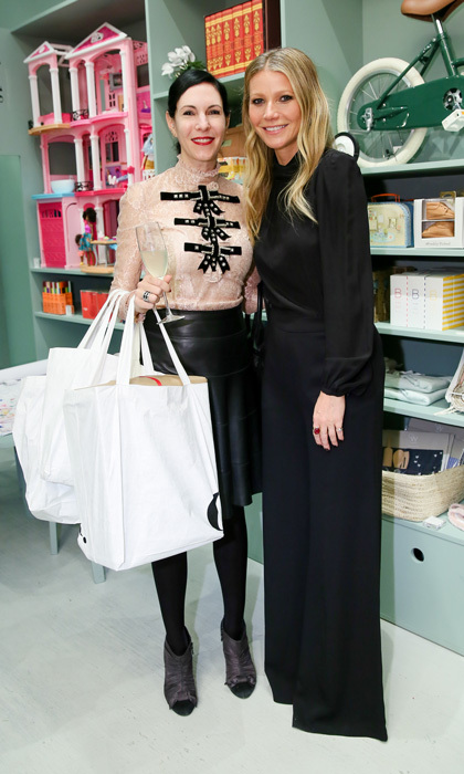 Gwyneth Paltrow hosted the opening of goop GIFT, the company's NYC pop-up shop for all things holiday. Jill Kargman stopped by the party sponsored by Grey Goose to toast her friend.