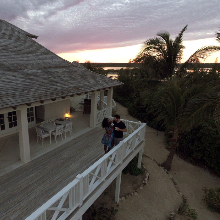 After their New Orleans nuptials on November 16, Serena Williams and Alexis Ohanian escaped to paradise for a week-getaway with their daughter. The newlyweds traveled to the Bahamas where they stayed in this villa on Kamalame Cay courtesy of booking.com. The house, which rents for $35,000 per week, features four bedrooms and can only be accessed by boat or air.